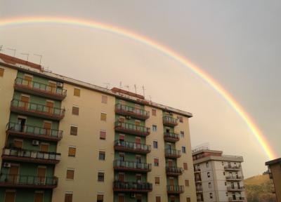 Mega arcobaleno a Palermo