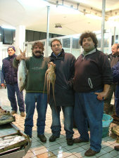 Di notte al mercato ittico di Porticello