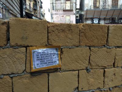 Muri attorno a piazza Garraffello (Vucciria): le foto