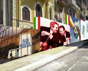 A Borgetto un muro con i volti del coraggio siciliano