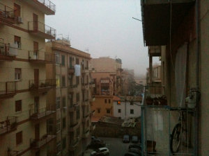 Nebbia e foschia a Palermo