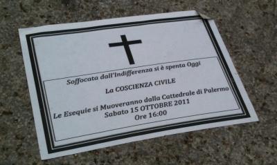Corteo funebre di Muovi Palermo