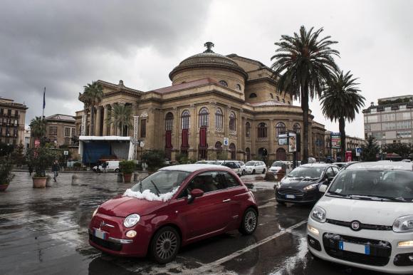 La nevicata del 2014 a Palermo