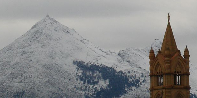 Neve a monte Cuccio