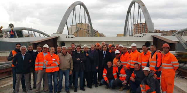 Completata la posa del nuovo ponte sull'Oreto, lavori fino a giugno