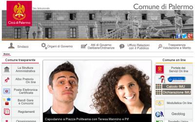 Sito del Comune di Palermo