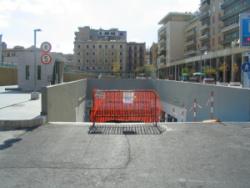 Parcheggio piazza Orlando chiuso