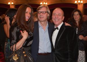 La festa per Di Meo al Teatro Politeama - Katerine Bojic, Vittorio Sgarbi e Generoso Di Meo