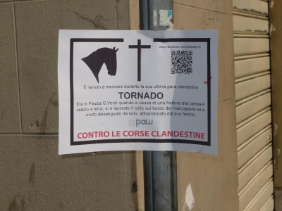 Guerrilla marketing di paw sulle corse clandestine