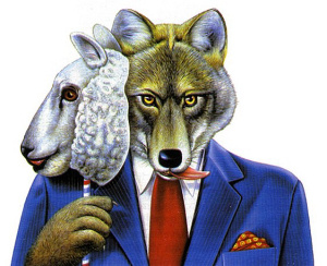 Pecora/lupo (immagine da www.summagallicana.it)
