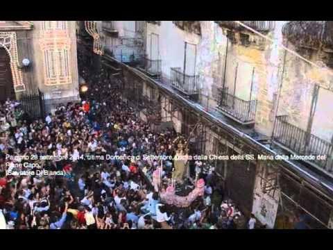 Palermo 28 settembre 2014 - uscita dalla Chiesa della SS. Maria della Mercede Rione Capo.