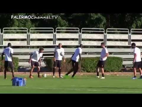 Prime immagini di Souleymane Bamba in allenamento a Palermo