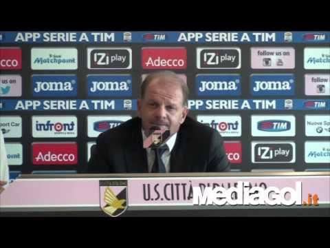 Conferenza Beppe Iachini vigilia Palermo-Sampdoria - Mediagol.it