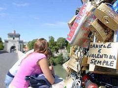 Lucchetti del ponte Milvio a Roma