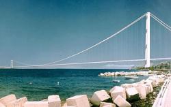 Ponte sullo Stretto di Messina (simulazione AP)