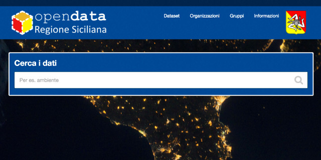 Online il portale open data della Regione Siciliana