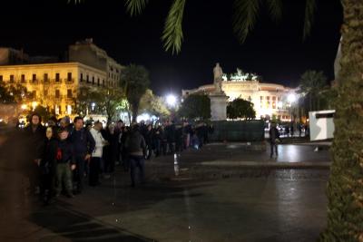 Gazebo a piazza Politeama