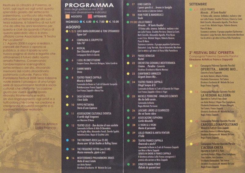 Parco Villa Pantelleria Teatro Festival Palermo