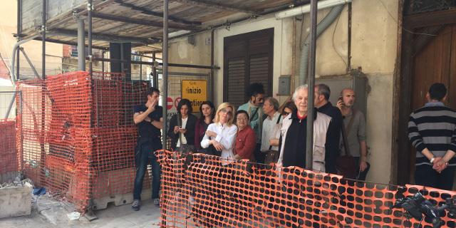 Protesta dei residenti di vicolo Bernava