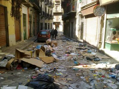 Ancora emergenza rifiuti a Palermo