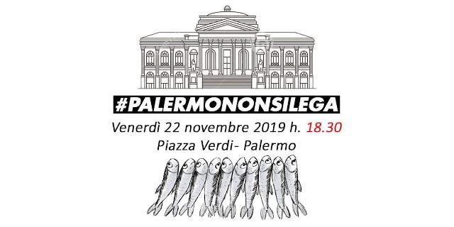 """Le """"sardine"""" a piazza Verdi, polemica per l'adesione del Comune di Palermo"""