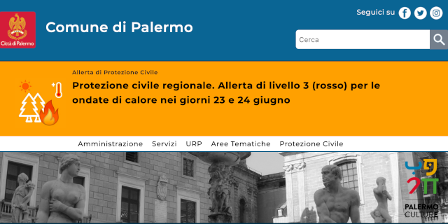 Online il nuovo sito istituzionale del Comune di Palermo