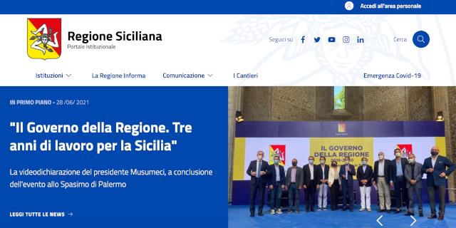 Online il nuovo portale della Regione Siciliana
