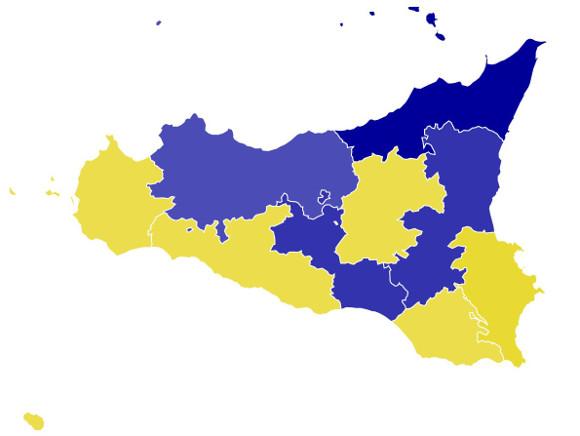 Voto presidente regione 2017 per province