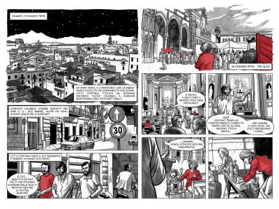 """Alcune tavole da """"Mauro Rostagno. Prove Tecniche per un mondo migliore"""""""