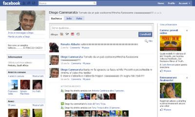 Il finto Diego Cammarata su facebook