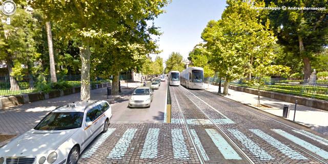 Tram in via Libertà (fotomontaggio)