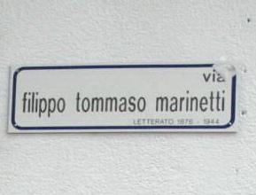 Via Filippo Tommaso Marinetti