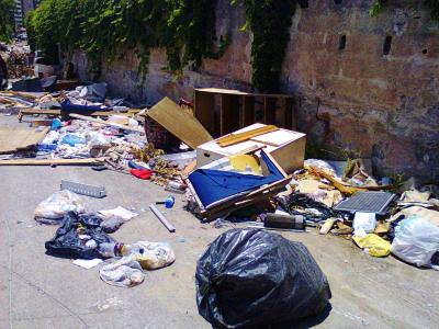 La discarica di via Palatucci