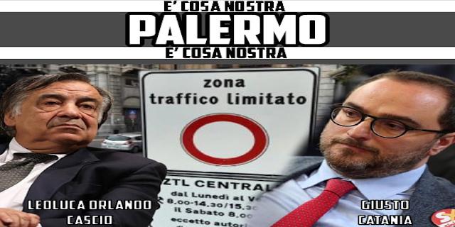 """Diffusi volantini contro la Ztl con Orlando e Catania: """"Palermo è Cosa nostra"""""""