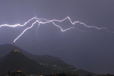 Fulmini su Monte Pellegrino