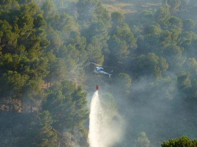 Incendio a San Martino delle Scale