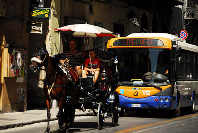 Carrozza e autobus